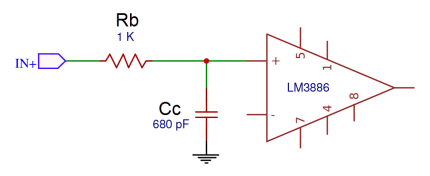 How to Design a Hi-Fi Audio Amplifier With an LM3886 - Rb and Cc Low Pass Input Filter