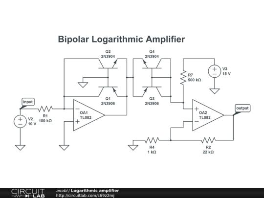 Logarithmic Amplifier CircuitLab