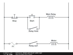 Simple Latch Circuit 'Ladder Logic'  CircuitLab