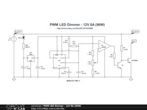PWM LED Dimmer  12V 8A (96W)  CircuitLab
