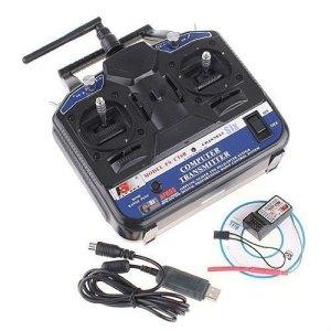 FS-CT6B 2.4G 6CH Radio Control RC Trasmettitore Ricevitore 450 500 T-Rex Elicottero