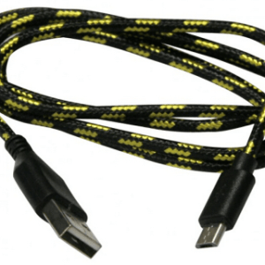 Micro USB Nylon Cavo Black