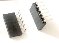 10 Pezzi 1*6P 2.54mm Bent Pin Header Femmina Connettore Plug