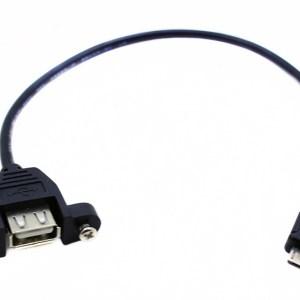 Cavo Adattatore 30CM 5P Micro USB Maschio a USB-A Femmina Montaggio Pannello