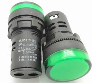 Spia luminosa da pannello Verde AD16-22D/S 24V Foro 16MM