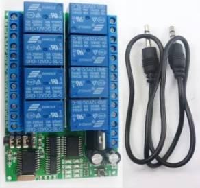 Relè di decodifica audio DTMF a 12 canali 8 canali / controller Smart Home / modulo di controllo remoto