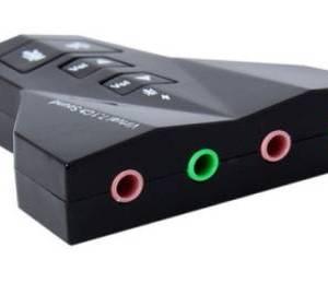 PD560 Desktop Laptop USB 7.1CH Scheda audio con doppia porta per cuffie, doppia porta per microfono
