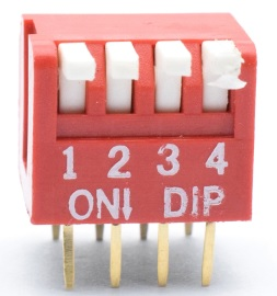 2 Pezzi 4 Way 2.54mm Dial Toggle Switch