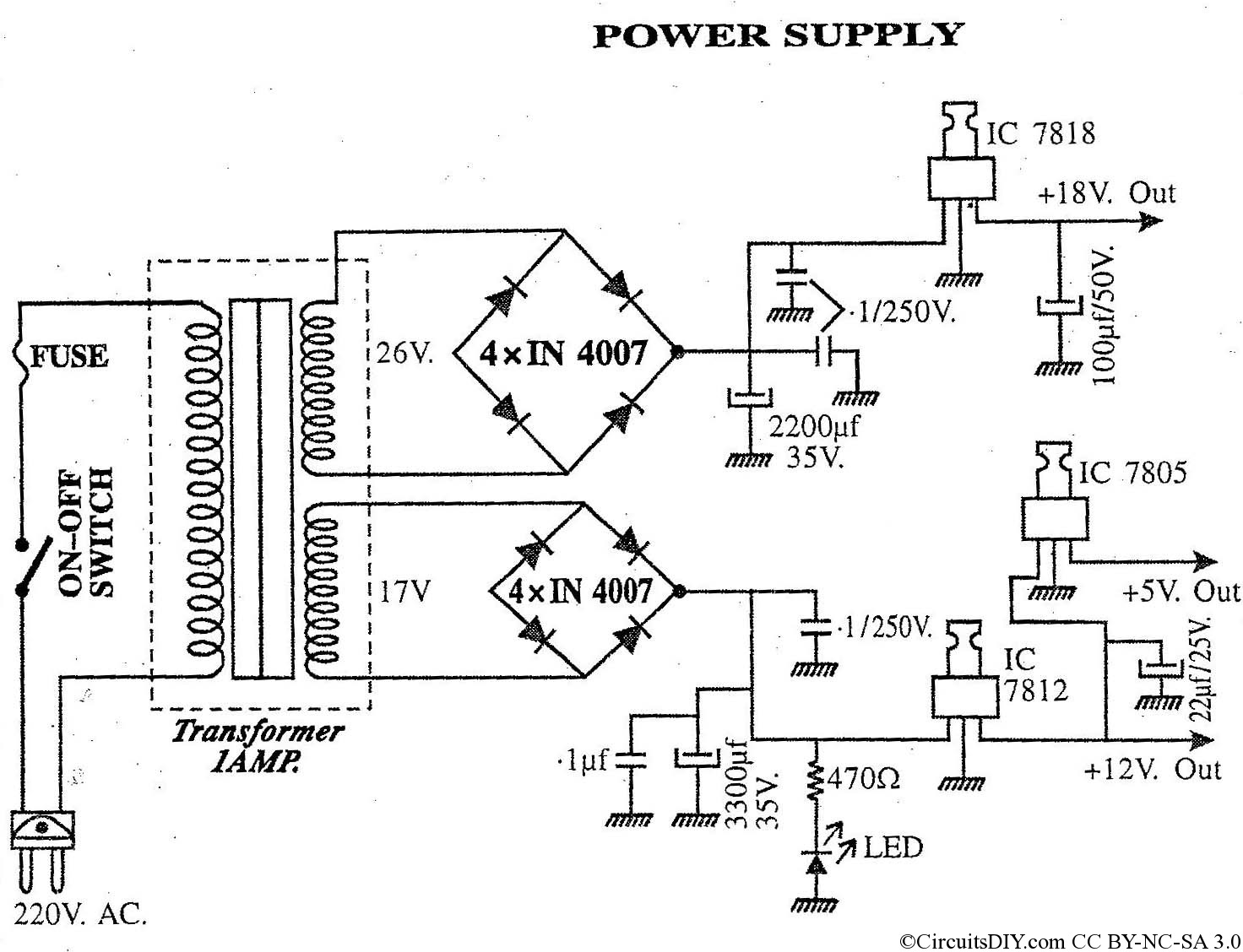 Cpu Power Supply Connection Diagram