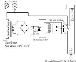 220 Volt to 110 Volt auto Bulb changer circuit – Circuits DIY