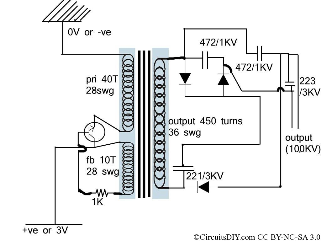 Step Up Transformer Diagram