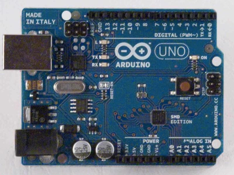 Arduino UNO SMD Front - Source: Arduino.cc