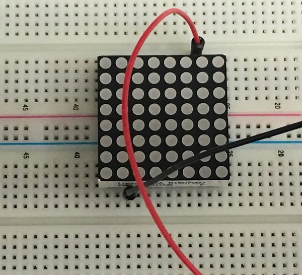 LED Matrix Breadboard Testing Find Pin 1