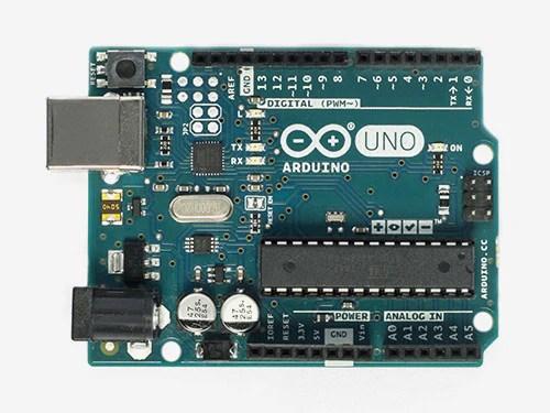 Arduino UNO R3 Front - Source: Arduino.cc
