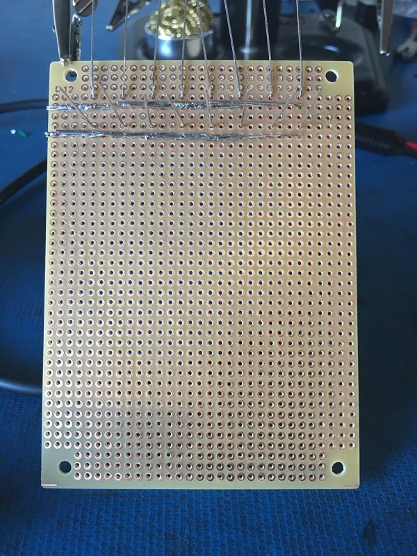 solder leds to matrix