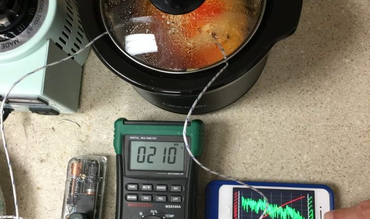 Variac Crock-Pot Experiment