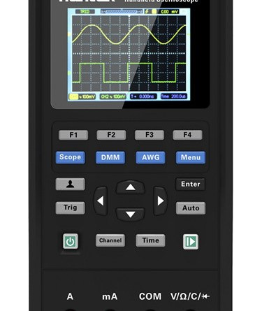 Hantek2D72 3-in-1 70 MHz Oscilloscope, Waveform Generator & Digital Multimeter with a Tactical Safety Case is our best ranked oscilloscope