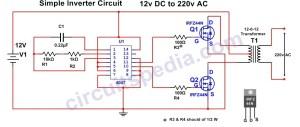 Homemade Simple Inverter Circuit   12v DC to 220 v AC