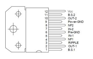 A6283CD6283 Stereo Audio Amplifier Circuit Diagram, 6283 ic connection