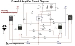 How to make Audio power Amplifier Circuit  Electronic