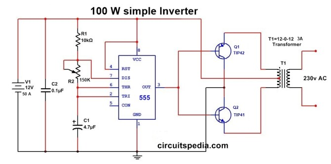 simple inverter wiring diagram  home electrical wiring