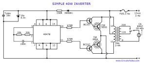 How to make an InverterSimple 40 Watts Inverter Circuit