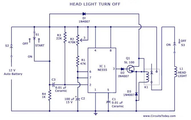 vehicle light circuit diagram  circuit wiring and diagram hub •