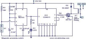 Magic proximity switch  Electronic Circuits and