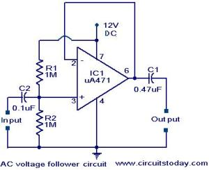 Voltage follower circuit  Electronic Circuits and DiagramsElectronic Projects and Design