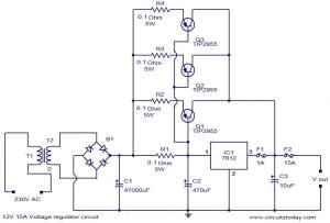 12V 15A voltage regulator  Electronic Circuits and DiagramsElectronic Projects and Design