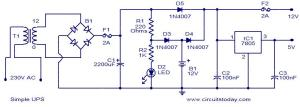 Simple UPS  Electronic Circuits and DiagramsElectronic