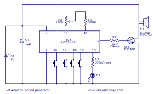 Jet engine sound generator  Electronic Circuits and