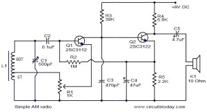 Simple AM radio  Electronic Circuits and Diagrams