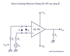 Zero Crossing Detector Circuit  Diagram  Working and