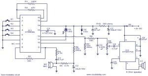 Voice modulator circuit  Electronic Circuits and Diagrams