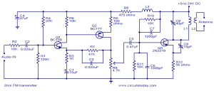 2 KM FM Transmitter  Detailed Working with Circuit Diagram