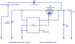 Automatic changeover circuit  Electronic Circuits and
