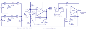 Car subwoofer filter  Electronic Circuits and DiagramsElectronic Projects and Design