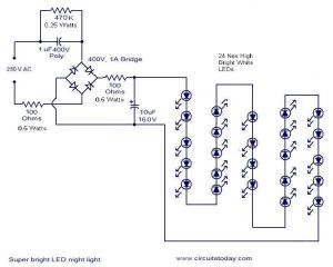 mains optd led  Electronic Circuits and Diagrams