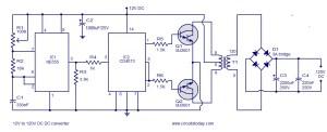12V to 120V DC DC Converter circuit
