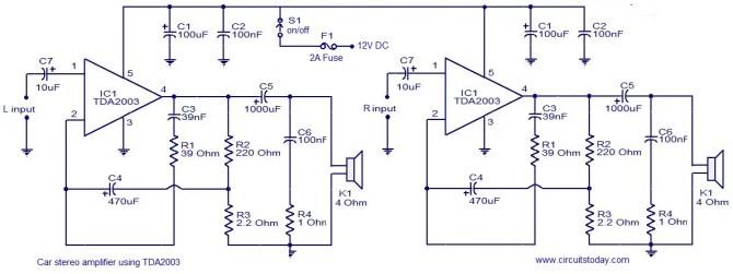 12v car audio amplifier circuit diagram  circuit diagram