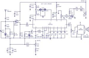 AM radio circuit based on TDA1572 9V operation,2W output