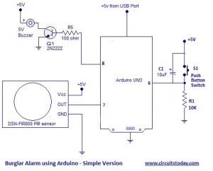 Arduino Burglar Alarm using PIR Sensor with SMS Alarm