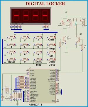 Keypad Door Lock using AVR Microcontroller  Atmega16