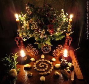 Altar Wicca para Yule
