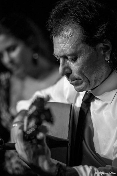 Foto de Antonio Carrión en el Círculo Flamenco de Madrid, tomada por Alfonso Otero