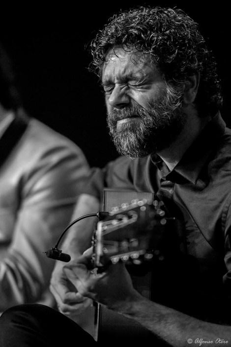 Foto en encuentro con Manuel Jero El Rubio en el Círculo Flamenco de Madrid, tomada por Alfonso Otero