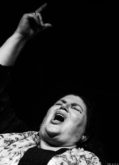 Foto de Inés Bacán en el Círculo Flamenco de Madrid, tomada por Rufo