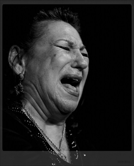 Foto de María Vargas en el Círculo Flamenco de Madrid, tomada por Diego Gallardo