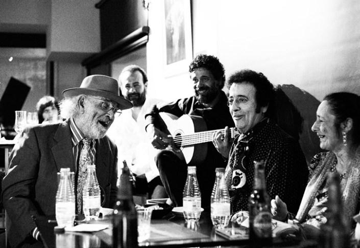 Foto de Antonio El Rubio y Canela de San Roque en el Círculo Flamenco de Madrid, tomada por Rufo